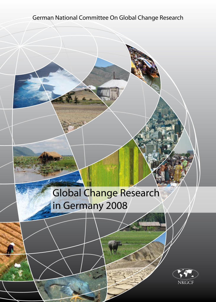 Cover Broschuere Global Change Research in Germany 2008